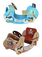 Kiddi Style Kids Pirate Wooden Rocker Ride On Boat Ship. NEW rocking horse