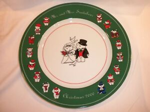 DAYTON HUDSON SANTA BEAR PLATE 20TH ANNIVERSARY CHARGER - MARSHALL FIELDS