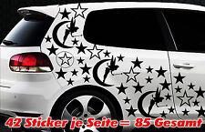 85 Sterne Fee Elfe Star Auto Aufkleber Set Sticker Tuning Stylin Wandtattoo Fair