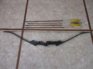 Vintage Bear Archery Lit'l Brave Youth Recurve Bow with Arrows