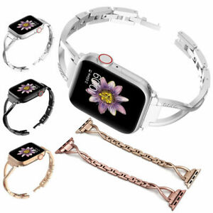 Womens Bling Wristband for Apple Watch iWatch Series 4 3 2 1 Metal Stylish Strap