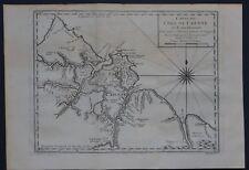 Amérique - Cartes XVIIIème - Carte de l'Isle de CAIENNE - BELLIN 1753