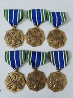 """Lot of 6 US MILITARY PIN MEDAL """"ARMY ACHIEVEMENT MEDAL"""""""