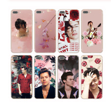 One Direction Harry Styles Pink Flowers Soft TPU Phone Cases for Coque iPhone X