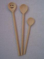 Juego de cucharas de madera cara sonriente