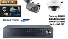 SAMSUNG 8 TELECAMERA CCTV Dome & Bullet Kit & 8 Channel DVR 2TB e l'1080p Plug & Play