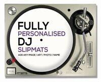 "1 Pair of Custom / Personalised 12""  DJ Turntable Slipmats ( YOUR IMAGE / LOGO )"