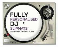 "1 Pair of Custom / Personalised 12""  DJ Turntable Slipmats ( YOUR IMAGE / LOGO )"