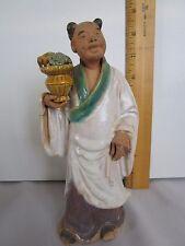 ANTIQUE VINTAGE CHINESE MUD MAN MUDMAN MUDMEN GLAZED FIGURINE STATUE MARKED