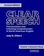 Clear Speech Teacher Resource Bk: Pronunciation/Listening Comp. 2nd Ed. NEW! ESL