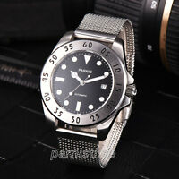 43mm Parnis Japan Automatic Stainless Steel Strap Sapphire Crystal Men Watch New
