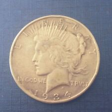Authentic US  Peace Silver Dollar 1934 D