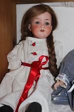 antike Porzellan-Puppe Armand Marseille 390, 42 cm, alter Gliederkörper a Samml.
