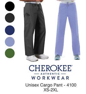 Cherokee Workwear Unisex 4100 Cargo Scrub Pant-NEW-FREE SHIP