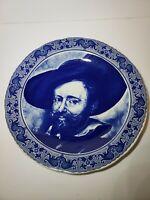 Boch La Louviere Delft Blue Hanging Wall Plate Vintage.