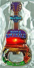 Hard Rock Cafe KOTA KINABALU 2012 City Tee Guitar Bottle Opener Magnet