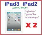 2 X NEW iPAD iPAD2 iPAD3 ULTRA CLEAR LCD SCREEN PROTECTOR CRYSTAL CLEAR FILM
