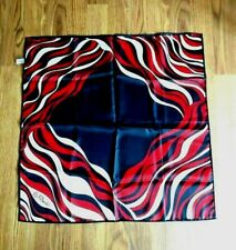 PAOLI ** Vintage Fashion Scarf ** Red/White/Black ** Signed