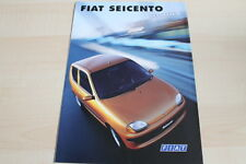 119862) Fiat Seicento - Hobby - Prospekt 01/1999