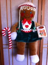"NWT Vintage 1990 TARGET Christmas Candy Cane PLUSH Girl GINGERBREAD 22"" DOLL CR"