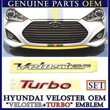 VELOSTER + TURBO TRUNK REAR LETTER BADGE EMBLEM OEM For 2012 2013 Hyundai