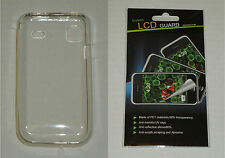Clear TPU Soft Gel Skin Case & Screen Protector For Samsung Vibrant T959