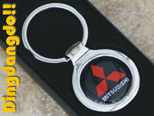 Mitsubishi Chrome Keyring Key Ring Gift