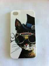 Funky Kitty Cat Printed iPhone 4/4S Case for Apple