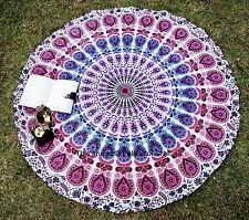 Indian Handmade Mandala Round Throw Tapestry Yoga Mat Picnic Blanket Table Cloth