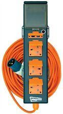 3 Way Mobile Mains Unit Campsite Power Hook Up RCD Cable Lead Caravan Motorhome