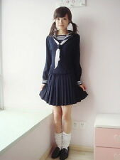 Japanese School Girl Daily Sailor Uniform Cosplay Costume Anime Dress Outfit QW