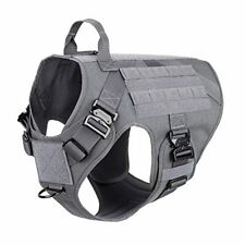 New listing Tactical Dog Harness with 4X Metal Buckle,Molle Vest with Handle,Xxl,Wolf Gray