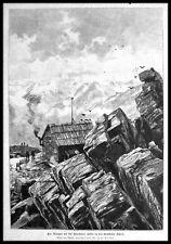 Ötztal Ötztaler Alpen/Tirolo. ORIG. legno chiave 1899