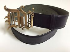versace leather belt men