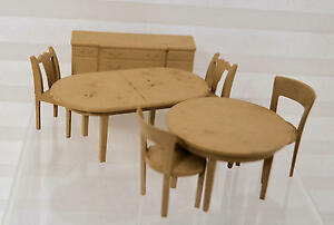 Vintage 1950's7 piecetable and chairs tan