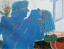 "Alekos Fassianos  ""Aaaaxxx"" Lovers - Open Edition Offset-Litho Print Greek 2003"