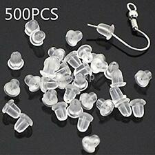 Wholesale 500pcs Clear Soft Rubber Butterfly Earring Backs Stoppers Earnuts