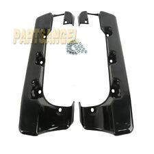 """4"""" Hard Stretched Saddle Bag Extensions Fit Harley Glide Road 2014-2017 Black"""