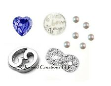 Cancer Zodiac June July Birthstone Floating Charm Lot For Memory Locket Necklace