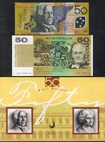 1995 $50 - 1st Polymer & Last Paper - Embossed NPA Folder. 1st with Overprint...
