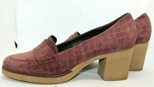 Nara Shoes Italy Maroon Suede Crepe Sole Pumps Size 8.5 EUR 41