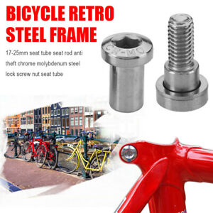 8mm Seat Binder Bolt Steel Vintage Adjustable 17-25mm Fixed Seatpost Screws S
