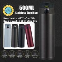 500ML Stainless Steel Insulated Travel Coffee Mug Thermos Cup Bottle Flask