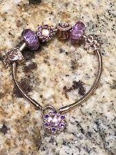 Authentic Pandora Rose Beads & Bracelet Set