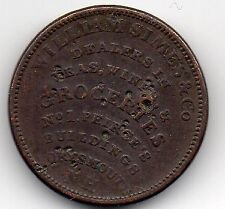 Nathaniel March/William Simas Co - Vintage 1837 Coin Trade Token - Portsmouth NH