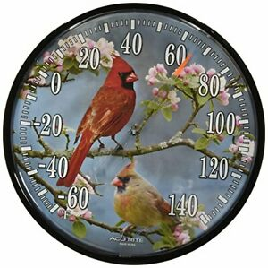 Chaney Instruments AcuRite 01597 12.5-Inch Wall Thermometer Cardinals