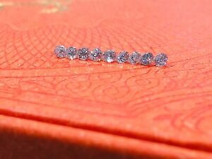 9 LAB GROWN DIAMONDS F COLOR I1 CLARITY 0.77 TOTAL CARAT WEIGHT 2.8MM