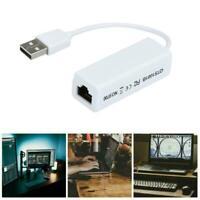 USB 1.0/1.1/2.0 Ethernet Adapter Network Card To Internet Lan 10/100Mbp E6C2