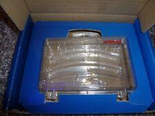 1 Stück transparenten Koffer in blauer OVP