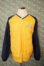 NFL San Diego Chargers XL Pullover Men Windbreaker Shirt Sweater Yellow